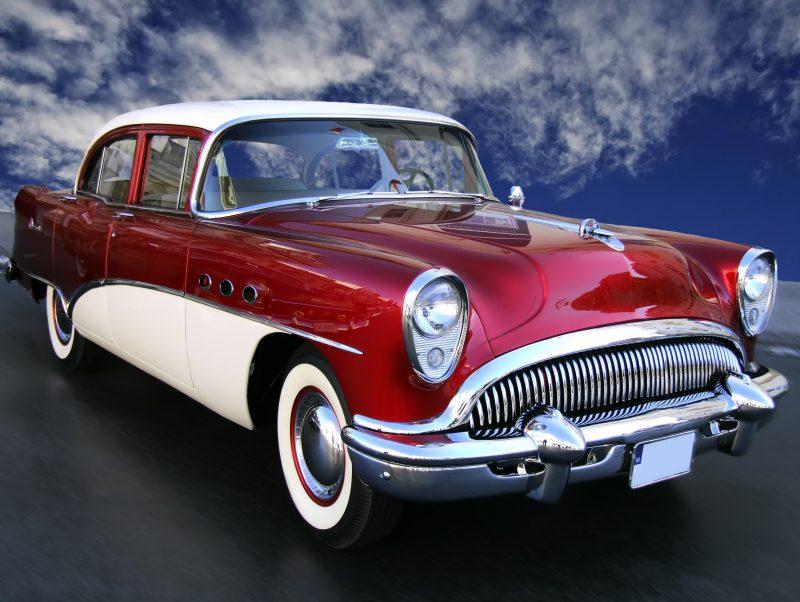 wypozyczalnia samochodow retro styl