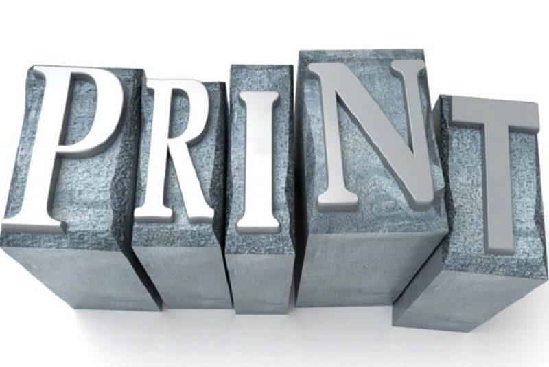 Przykład druku z drukarki Canon